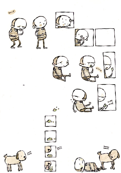 Hey Lady, is your dog okay?